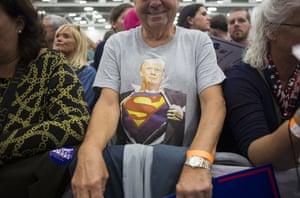 Supporters of Donald Trump attend a campaign event at the Spooky Nook Sports complex in Manheim, Pennsylvania