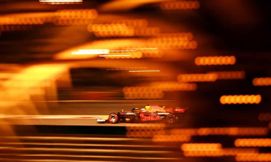 Max Verstappen during qualifying in Bahrain.