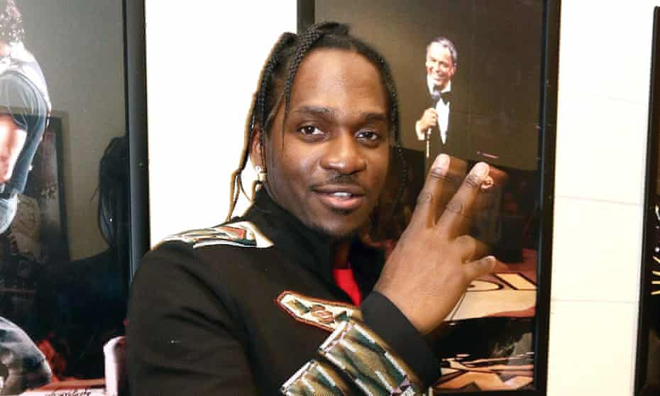 'This is what people need to see to go along with this music' ... Pusha T at New York fashion week in 2016.