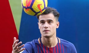 FC Barcelona present new signing Philippe Coutinho<br>Soccer Football - FC Barcelona present new signing Philippe Coutinho - Camp Nou, Barcelona, Spain - January 8, 2018   FC Barcelona's new signing Philippe Coutinho on the pitch   REUTERS/Albert Gea