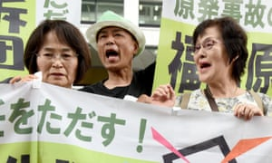 Activists protest against Tepco