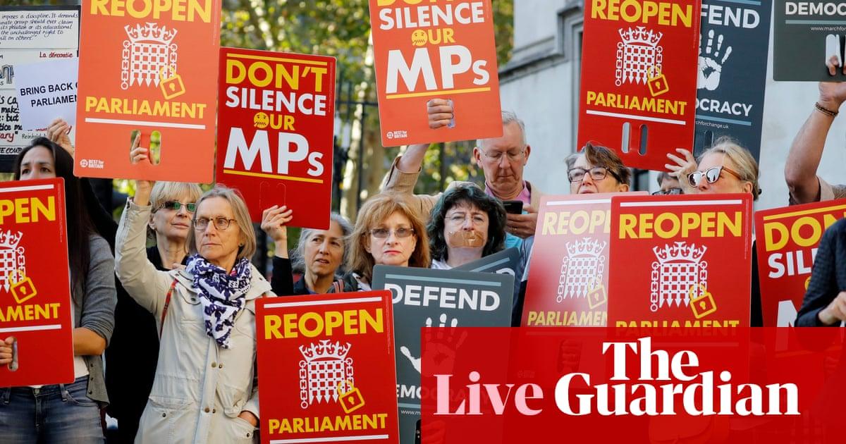 Brexit: Supreme court begins hearing legal challenges over Boris Johnson's suspension of parliament – live news
