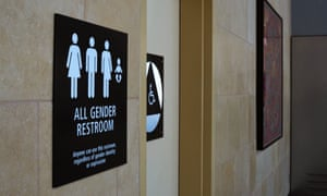 An 'All Gender' bathroom sign at the San Diego International Airport in California.