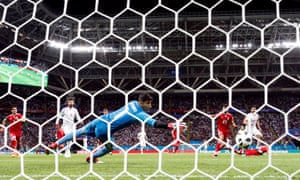 The ball ricochets off Diego Costa and into the net for Spain's winner.