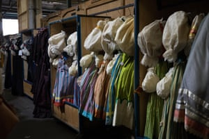 Puff sleeved dresses at the Opera Australia costume and prop sale.