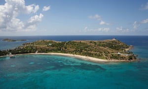 Little St James Island, one of the properties of financier Jeffrey Epstein, near Charlotte Amalie, St Thomas, in the US Virgin Islands.