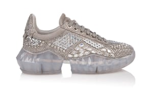 Crystal shimmer trainers, £2,795, by Jimmy Choo