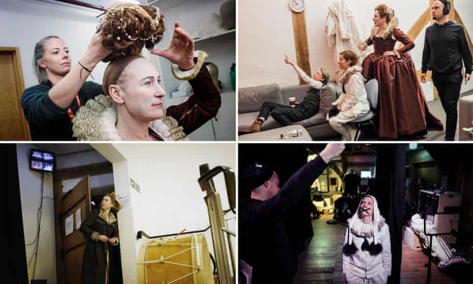 Backstage at the Globe's new productions.