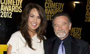 Robin Williams and his wife Susan Schneider Williams in 2012. 'Robin was losing his mind and he was aware of it,' she said.