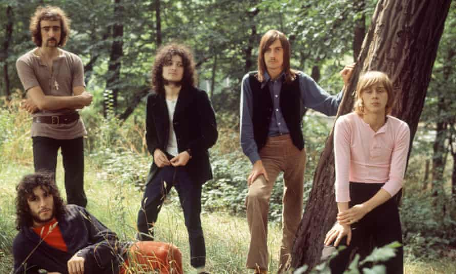 Fleetwood Mac with, from left, Peter Green, John Mcvie, Jeremy Spencer, Mick Fleetwood and Danny Kirwan.