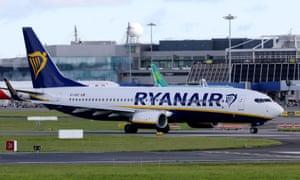 Ryanair jet at Dublin airport