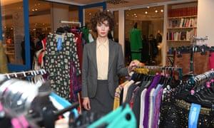 Miranda July inside her interfaith charity shop in Selfridges