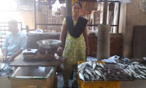 Ramila Pujjar in the fish market in Panjim, Goa.
