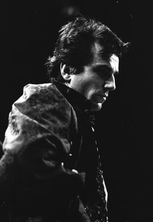 Daniel Day-Lewis as Hamlet at the National Theatre, March 1989