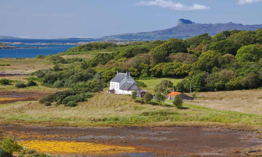 Looking towards An Sgurr (The Notch), on the Isle of Eigg.