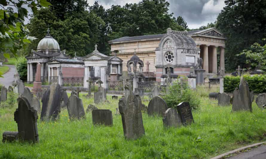 Graves and monuments at West Norwood cemetery.