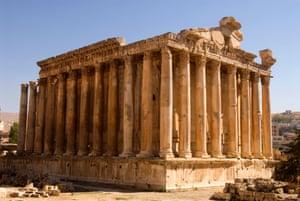 Temple of Bacchus, Baalbek, Bekaa Valley, Lebanon.