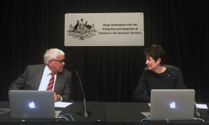 Royal Commission into the Protection and Detention of Children in the Northern Territory commissioners Margaret White (right) and Michael Gooda.