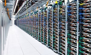 A Google server farm in Oklahoma.