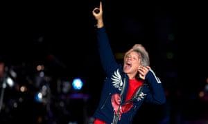 Jon Bon Jovi performs at the Rock in Rio festival