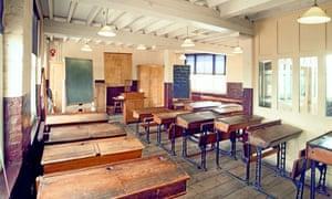 A schoolroom at the  Copperfield Road school in Hackney