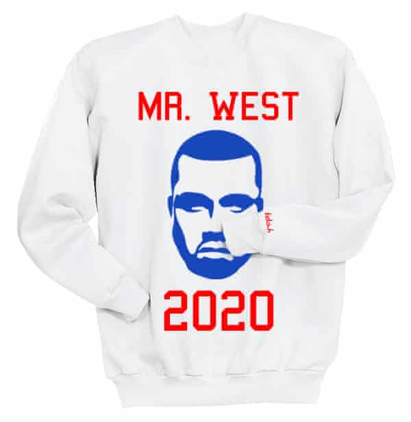 Let the Mr West presidential campaign merchandising begin.