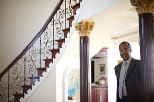 Ben Carson inside his home in Upperco, Maryland in November 2014. All Photographs by Mark Makela