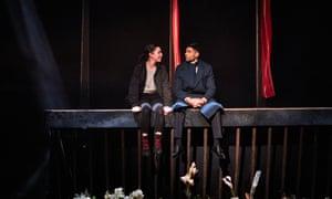 Tessa Parr and Darren Kuppan in Hamlet at Leeds Playhouse.
