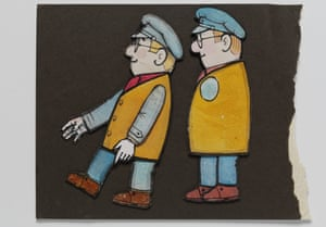 Full steam ahead: cutouts from Ivor the Engine, another Postgate-Firmin creation.