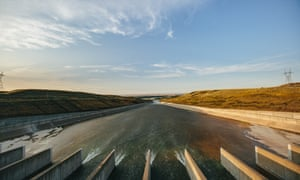 Record-high flooding and runoff in 2011 forced the Army Corps of Engineers to open the flood gates on the Fort Peck Dam spillway for only the fifth time in the dam's history.