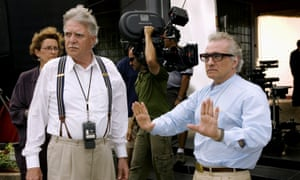 Michael Ballhaus, left, with the director Martin Scorsese on the set of The Departed, the 2006 Oscar winner. 'It was Michael who really gave me back my sense of excitement in making movies,' Scorsese said.