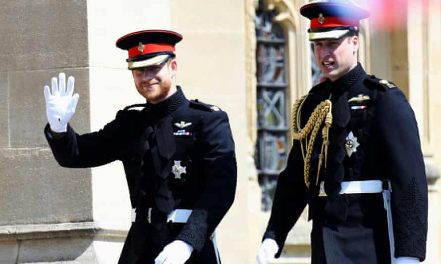 Prince Harry on his wedding day in 2018, with Prince William