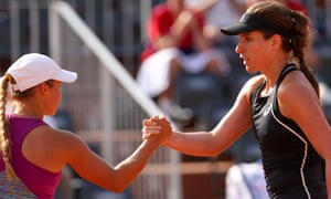 Johanna Konta congratulates Yulia Putintseva after her defeat