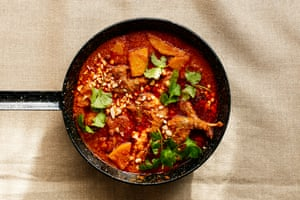 Thomasina Miers' Thai peanut curry with partridge and squash.