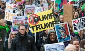 A London protest against Donald Trump