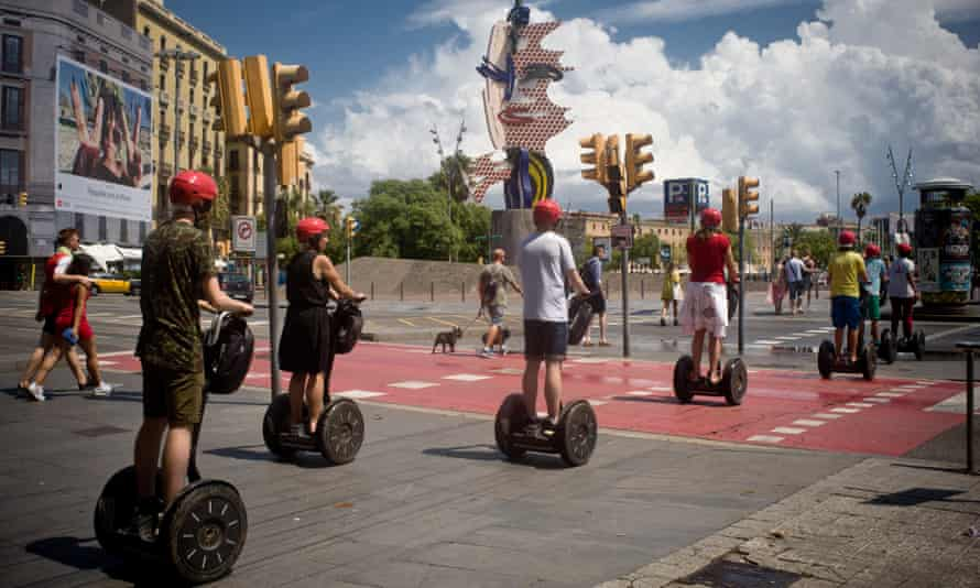 Segways are prohibited in Barcelona's Old City and seafront areas from this week.