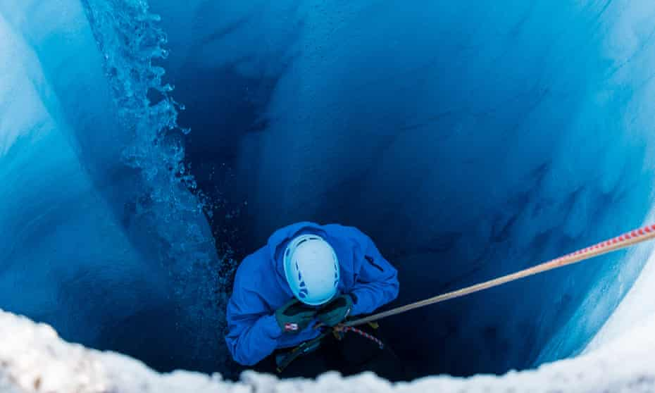 Down into the ice, Greenland.