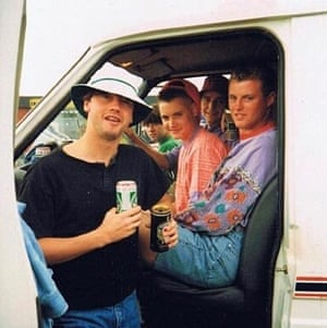 Fans and a van – not this writer's – en route to see the Stone Roses.