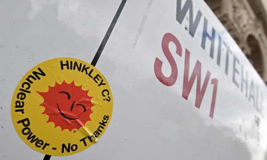 A protest sign against the Hinkley Point C