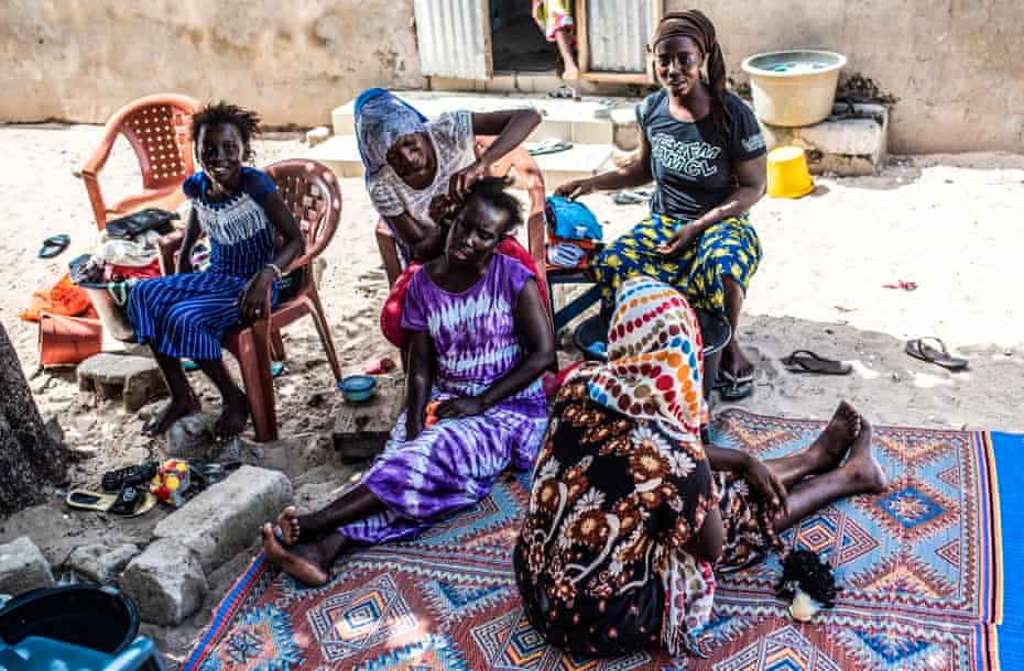 Senegalese women and girls