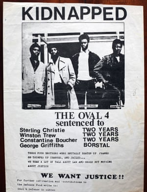Campaign poster to free the Oval Four