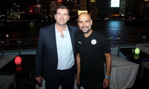 Manchester City CEO Ferran Soriano and Pep Guardiola were in Shanghai last week for the Asia Trophy.