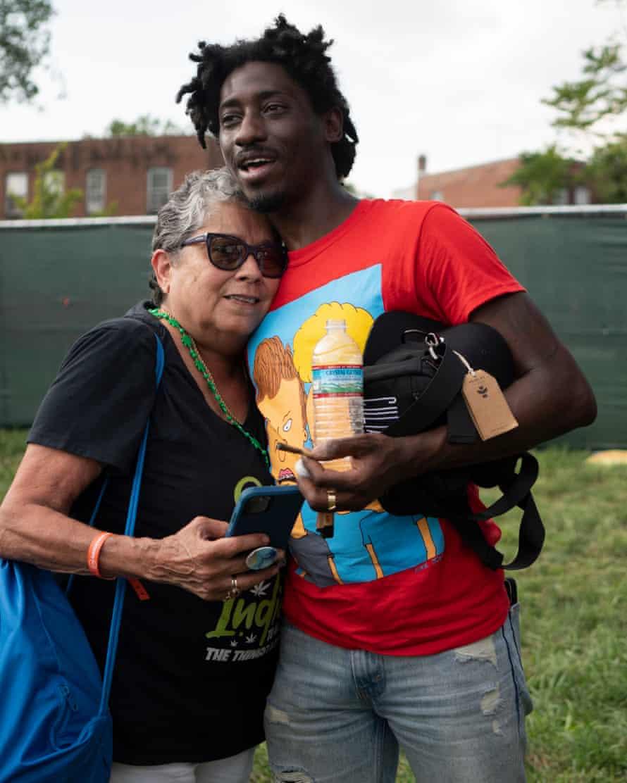 Tahir Johnson und Freund beim National Cannabis Festival.