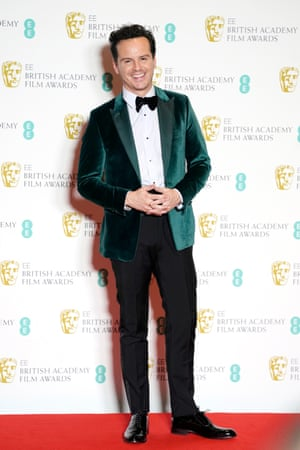 "No, it wasn't a dog collar on the Bafta red carpet for Andrew Scott. But Fleabag's ""Hot Priest"" still stands out from the usual monochrome choice of men at award ceremonies in a green velvet jacket"