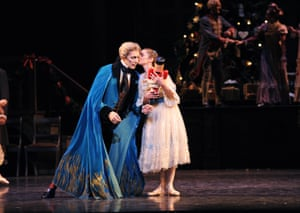 William Tuckett as Drosselmeyer, with Iohna Loots as Clara, in the Royal Ballet's 2011 staging of The Nutcracker.