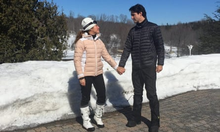 'Are you ready to ignite change?': Sophie Grégoire Trudeau and Justin Trudeau feature in a controversial Facebook post on International Women's Day.