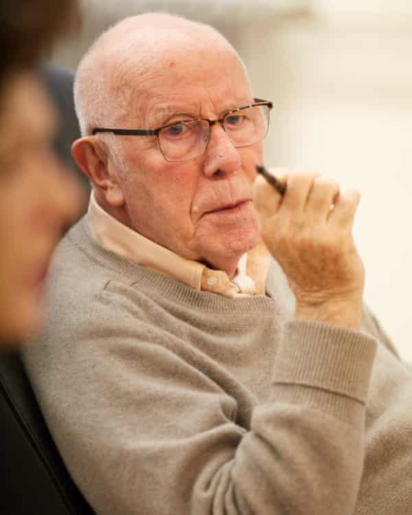 Richard Wilson in rehearsals for The Nap