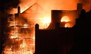 Glasgow School of Art fire in 2018