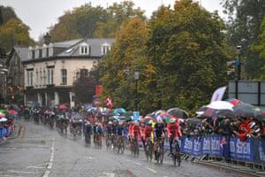The peloton in Harrogate.