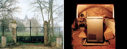 Composite: Le Chalet de Preuil (view from the road), Nueil-sur-Layon, Pays de la Loire. March 2007 and Freezer, Le Chalet de Preuil, Nueil-sur-Layon, Pays de la Loire. April 2007. From The Prospect of Immortality by Murray Ballard, published by GOST, April 2016.